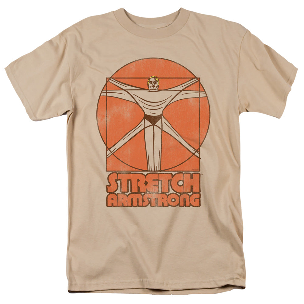 Retro Mens Stretch Armstrong Vitruvian Stretch T-Shirt