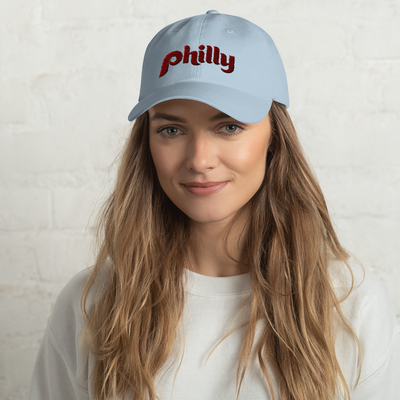 Retro Philly Baseball Script Dad hat