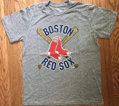 Retro MLB Boston Red Sox Cross Bats Tri Blend T-Shirt - Generation T