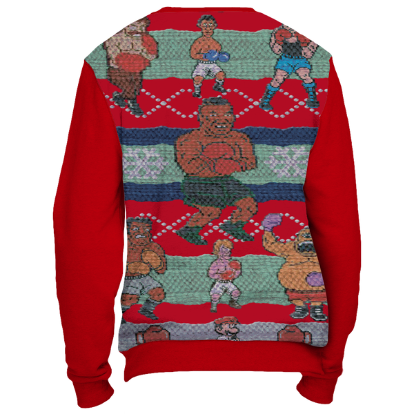 Red Tyson Punchout Inspired Ugly Christmas Sweatshirt - Generation T