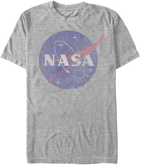 NASA Logo Mens Heathered T-Shirt