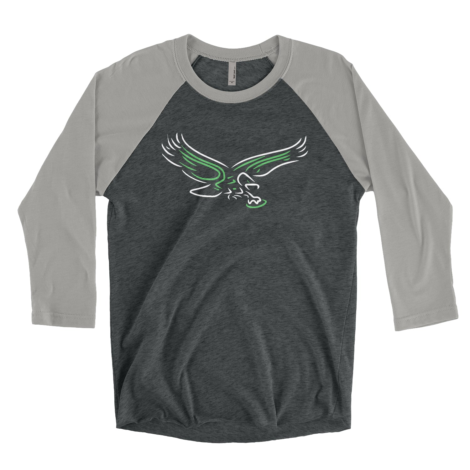 Retro Neon Bird Unisex Tri-Blend 3/4 Sleeve Baseball Raglan T-Shirt