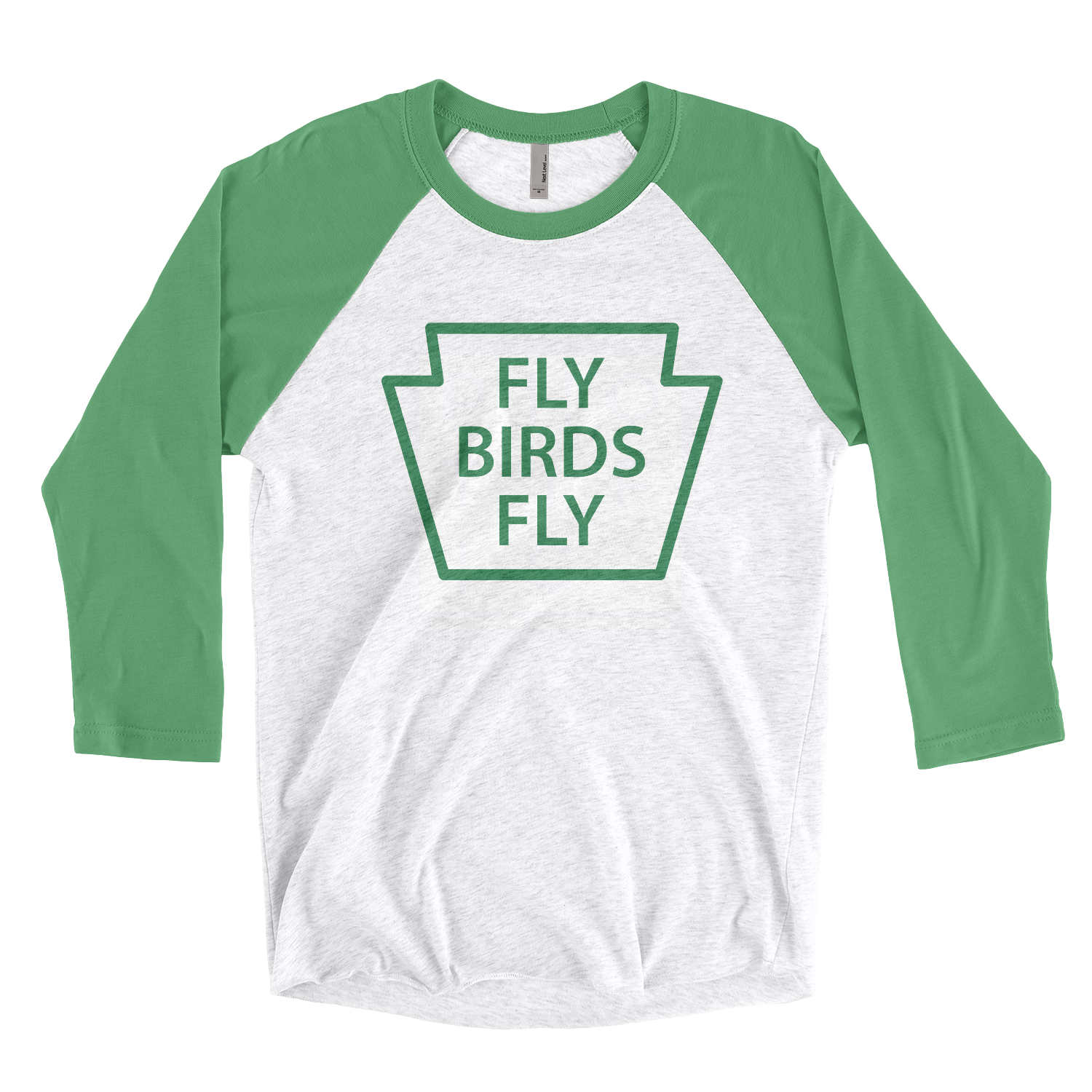 Fly Birds Fly Tri-Blend 3/4 Sleeve Baseball Raglan T-Shirt