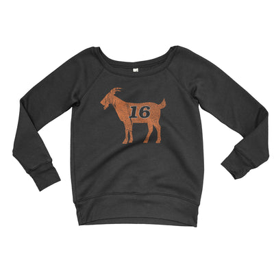 GOAT Clarke Inspired Women's Sponge Fleece Wide Neck Sweatshirt