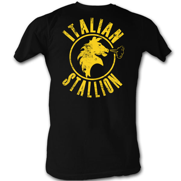 Rocky The Italian Stallion Black Distressed Tee Shirt - Generation T
