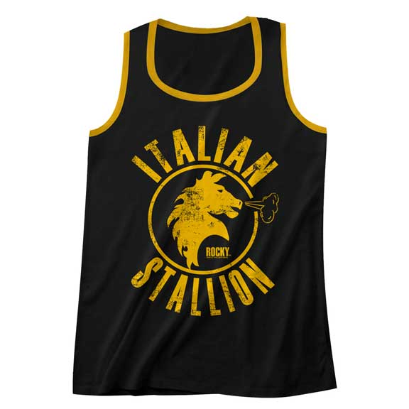 Rocky The Italian Stallion Mens Tank Top With Piping