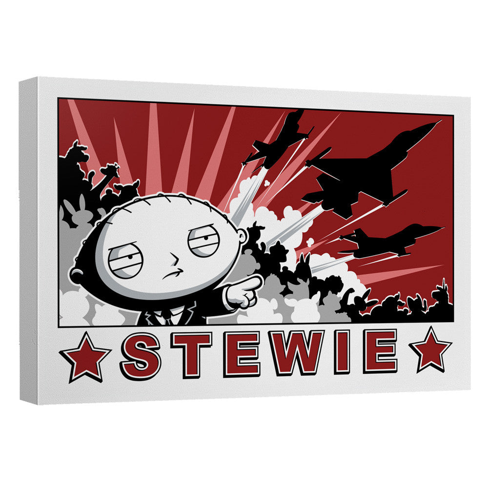The Family Guy Stewie Propaganda Quickpro Artwrap Canvas - Generation T