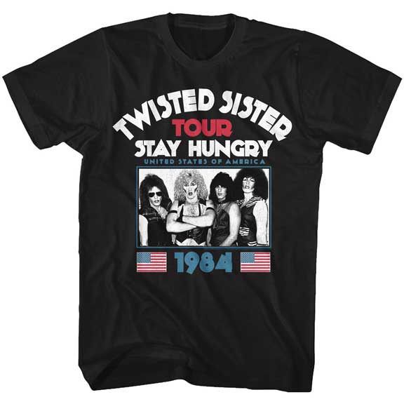Mens Twisted Sister Stay Hungry T-Shirt