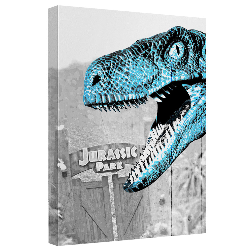 Jurassic Park Two Raptors Quickpro Artwrap Canvas