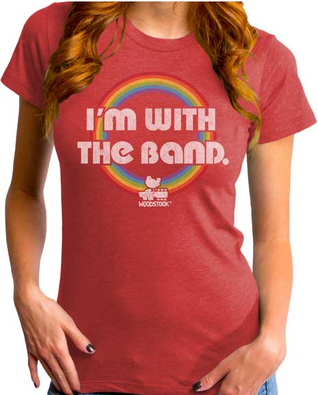 Woodstock I'm With the Band Ladies T-Shirt