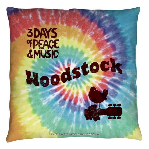 Woodstock Tie Dye Retro Throw Pillow - Generation T