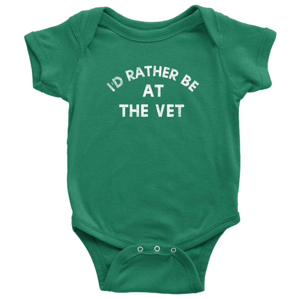 I'd Rather Be At The Vet Infant Bodysuit