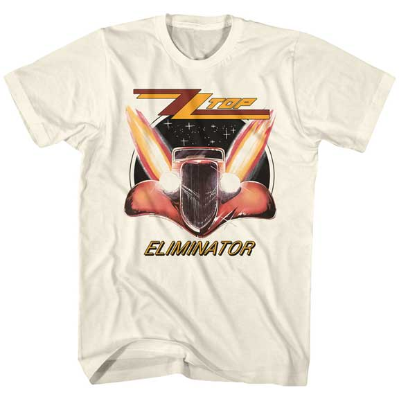 Mens ZZ Top Eliminator Natural T-Shirt