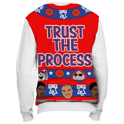 A Process Christmas Sweatshirt with White Sleeves