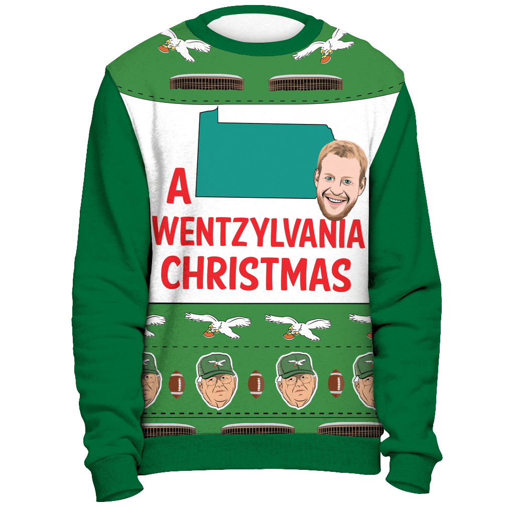A Wentzylvania Christmas Green Ugly Christmas Sweatshirt - Generation T