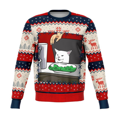 Meme King #2 - Ugly Christmas Fashion Sweatshirt All Over Print