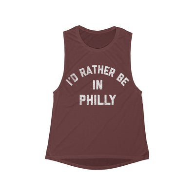 I'd Rather Be In Philly Women's Flowy Scoop Muscle Tank
