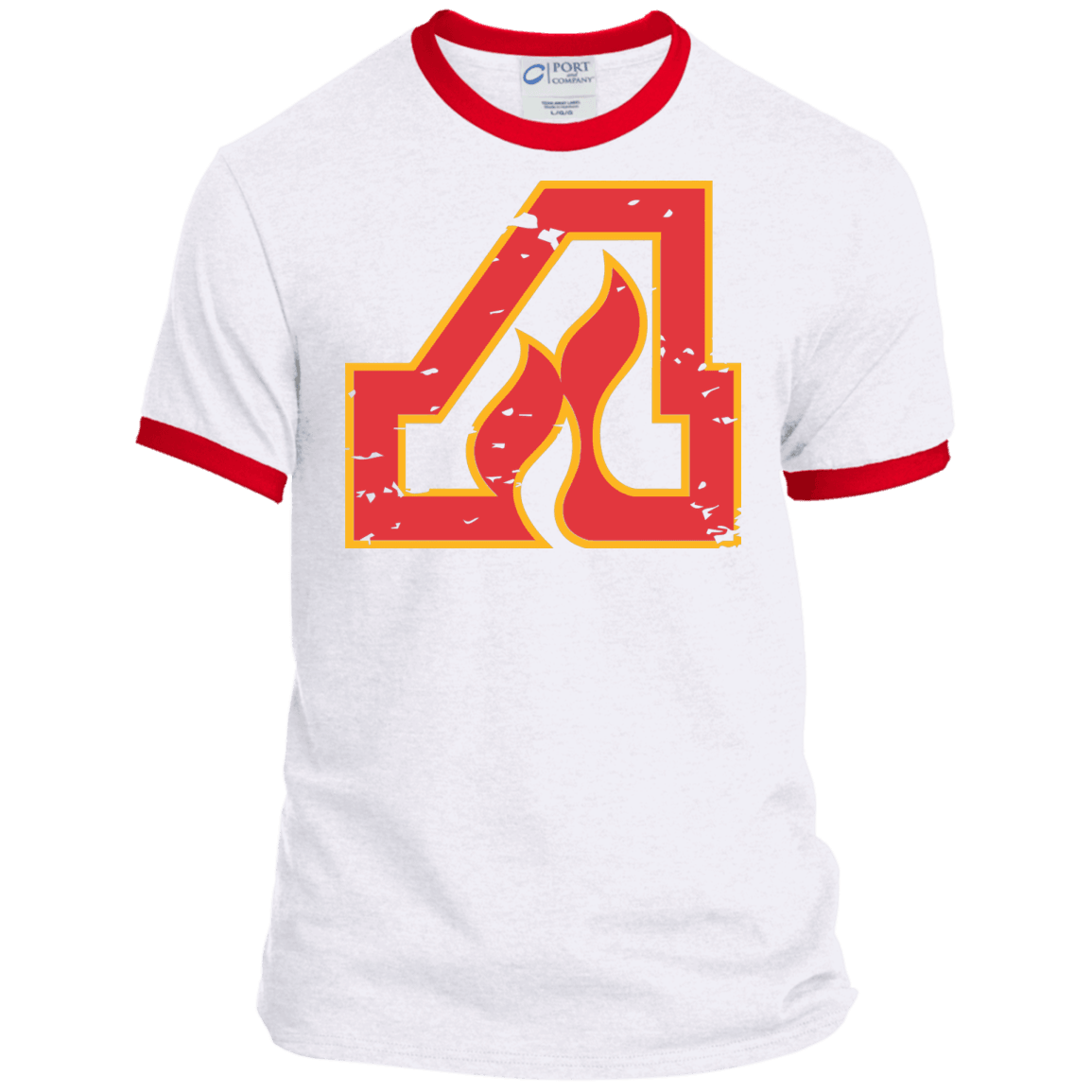 Atlanta Flames Inspired Ringer Tee - Generation T