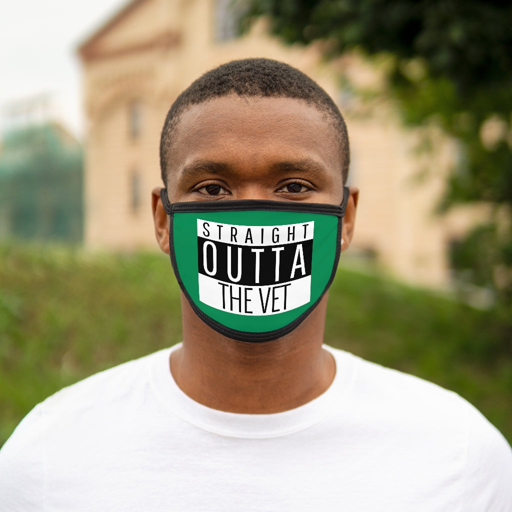 Straight Outta The Vet Mixed-Fabric Face Mask