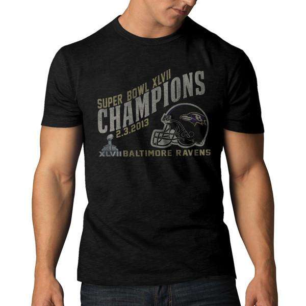 Baltimore Ravens Super Bowl XLVII Champs Mens Scrum Tee Shirt - Generation T
