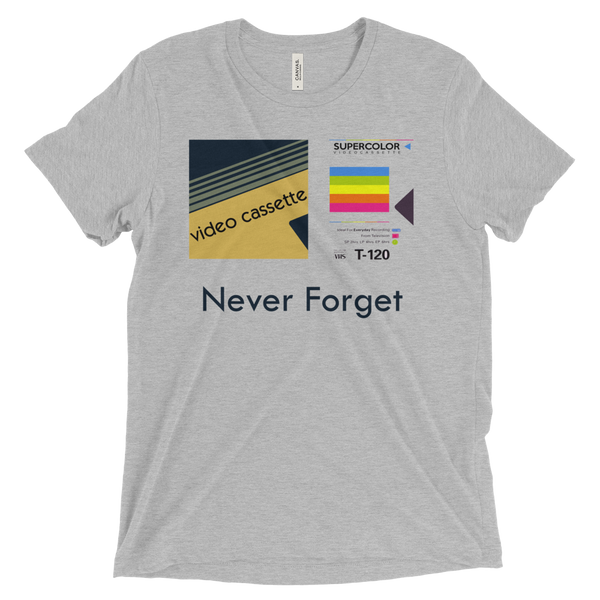 Never Forget VCR Tapes Men's Tri-Blend Tee