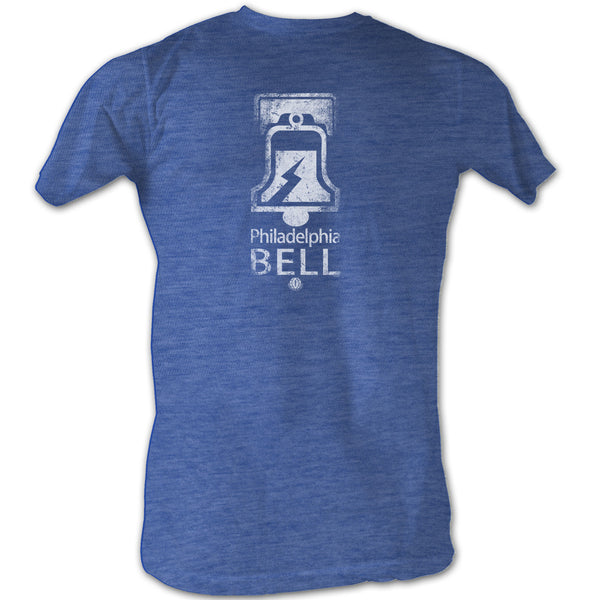 Mens WFL Retro Philadelphia Bell Tee Shirt in Blue - Generation T