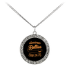 Retro Broad Street Bullies Stone Coin Necklace