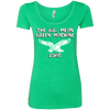Big Mean Green Machine Ladies Triblend Scoop - Generation T