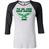 Big Mean Green Machine Retro Junior 100% Cotton 3/4 Sleeve Baseball T - Generation T
