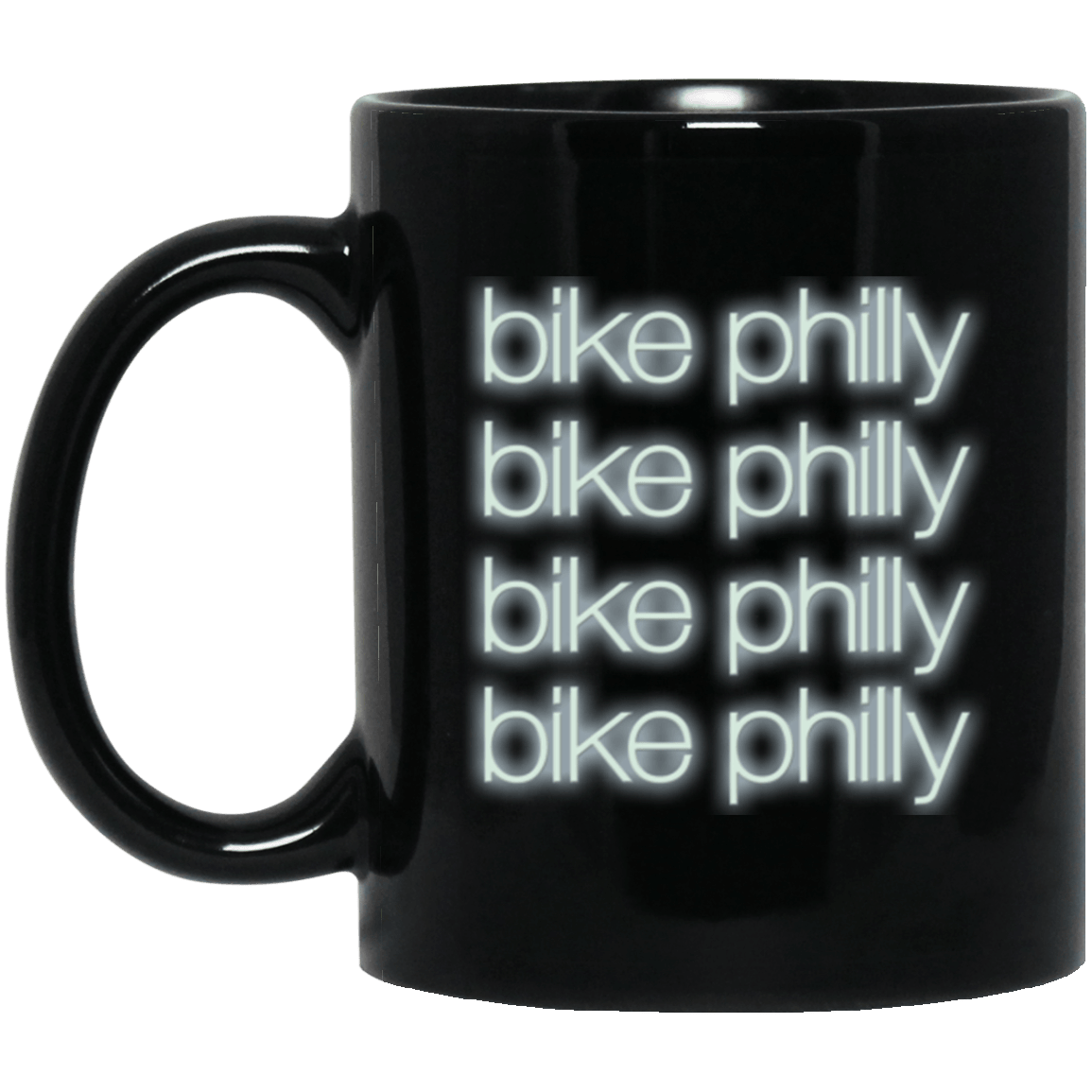 Bike Philly Black Mug