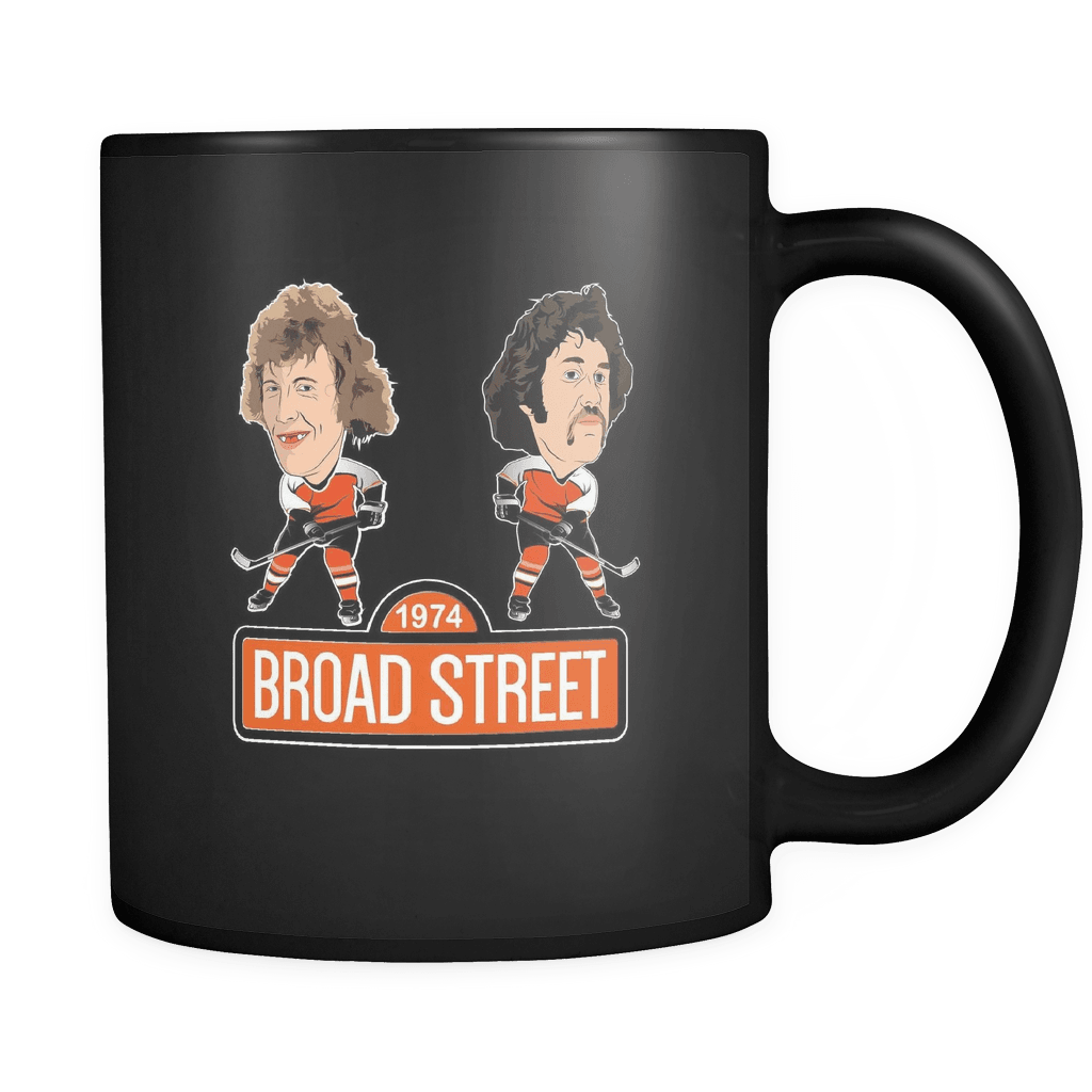 Black 1974 Broad Street Hockey Coffee Mug