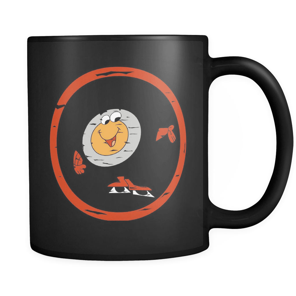 Black Peter Puck Retro Hockey Mascot Mug