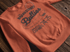 Broad Street Bullies Orange Crewneck Pullover Sweatshirt - Generation T