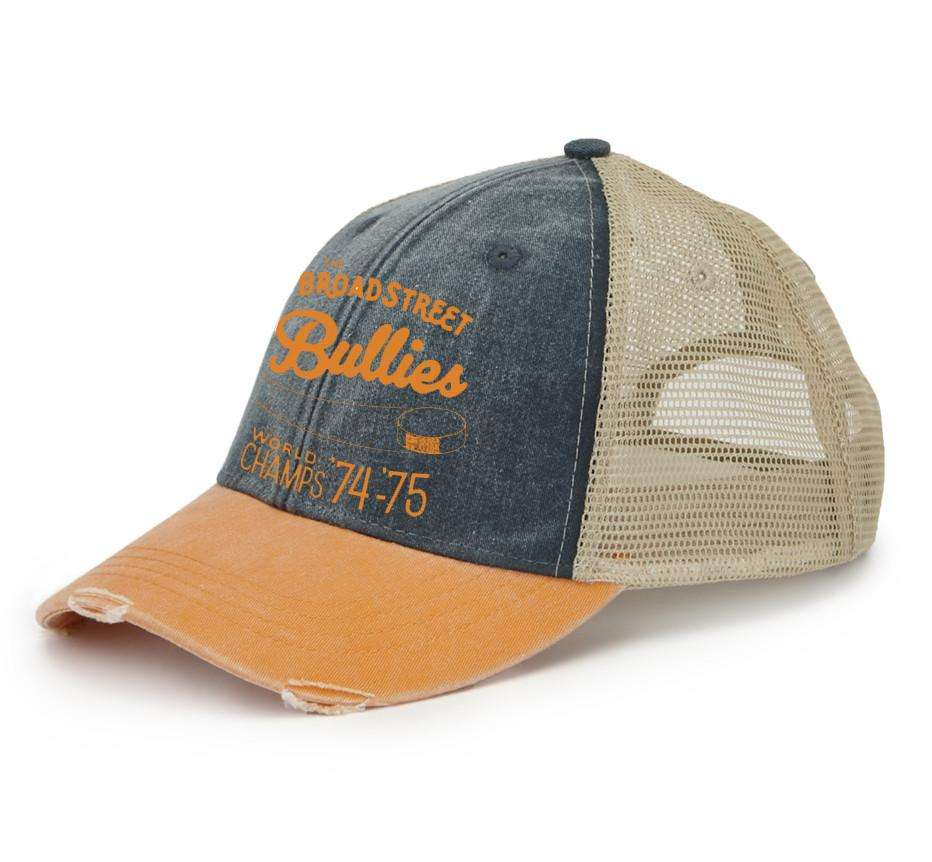 ca4a9339 Broad Street Bullies Pigment Dyed Distressed Mesh Back Trucker Hat -  Generation T