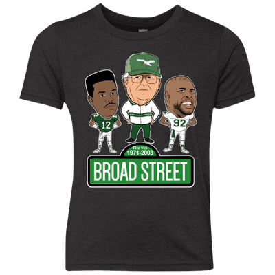 Broad Street Football Youth Triblend Crew - Generation T