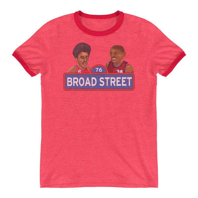 Broad Street Hoops Retro Ringer T-Shirt - Generation T