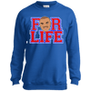 Chuck for Life Inspired Youth Crewneck Sweatshirt