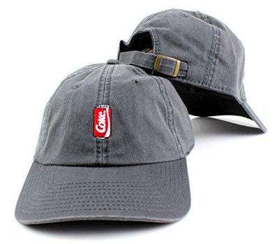 Coca-Cola Can Micro Logo Adjustable Backstrap Slouch Dad Hat Gray - Generation T