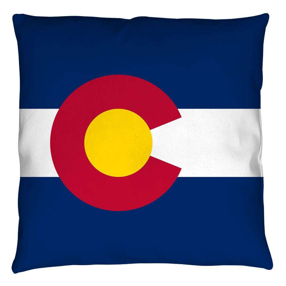 Colorado Flag Retro Throw Pillow