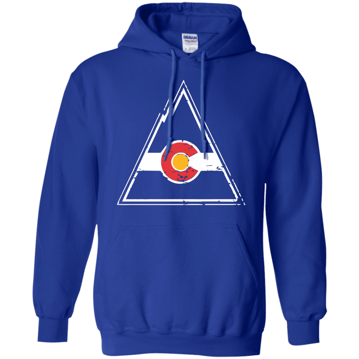 check out b5cc8 a4037 Colorado Rockies Hockey Inspired Royal Pullover Hoodie