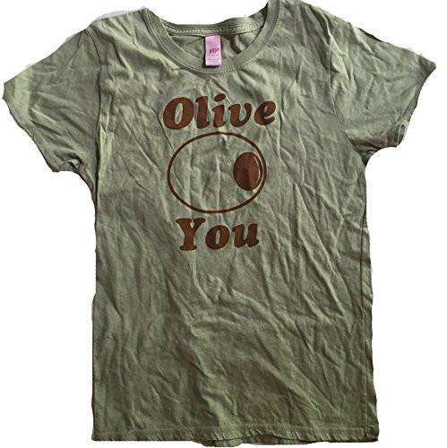 Cute Olive You Womens T-Shirt