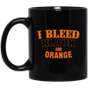 Cyber Special I Bleed Black and Orange Black Mug