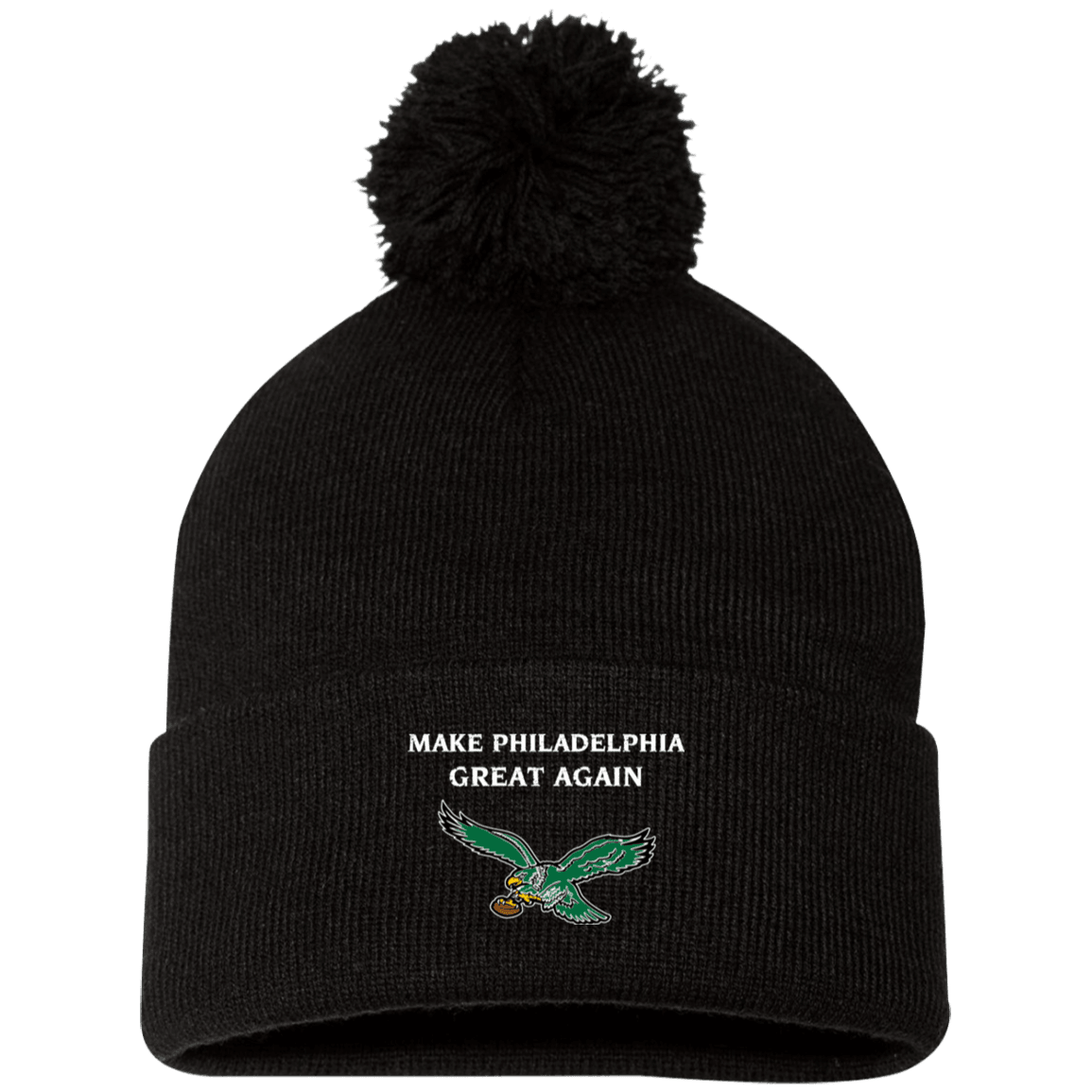 Cyber Special Make Philly Great Again Pom Pom Knit Cap
