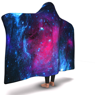 Galaxy All Over Hooded Blanket