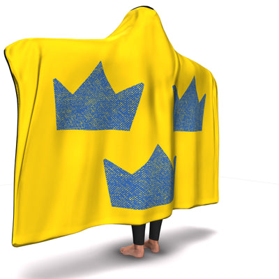 Sweden Hockey Inspired Hooded Blanket