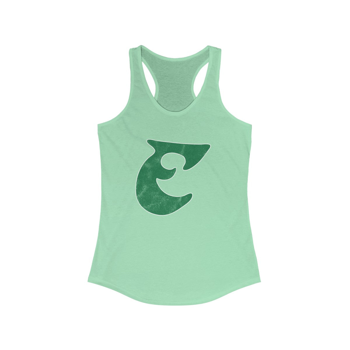 Retro Old School Big E Football Women's Ideal Racerback Tank