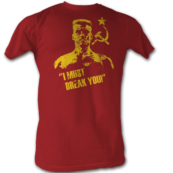Rocky Ivan Drago I Must Break You Distressed Mens Tee Shirt - Generation T