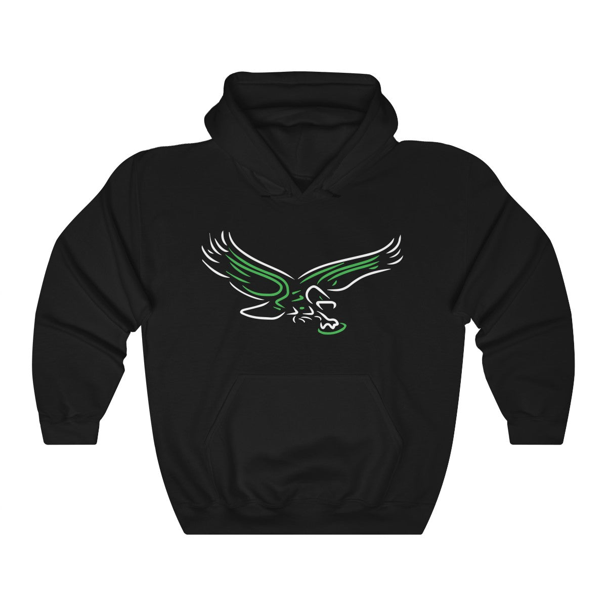 Retro Neon Philly Old School Bird Hooded Sweatshirt