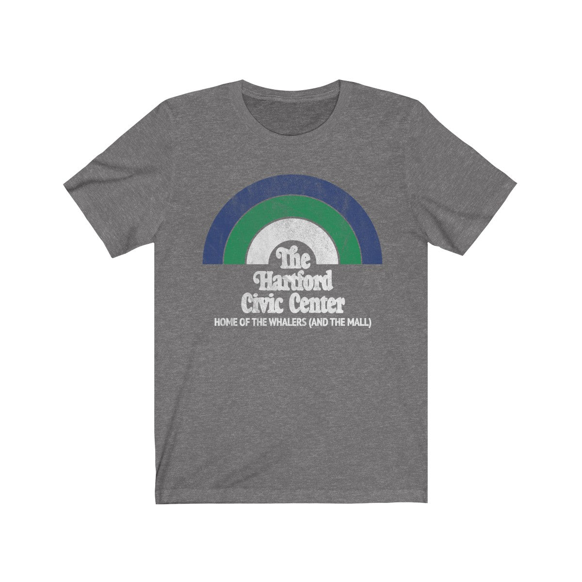 Retro The Hartford Civic Center Unisex Jersey Short Sleeve Tee in Deep Heather