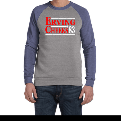 Erving Cheeks 83 Party Eco Fleece Colorblocked Sweatshirt